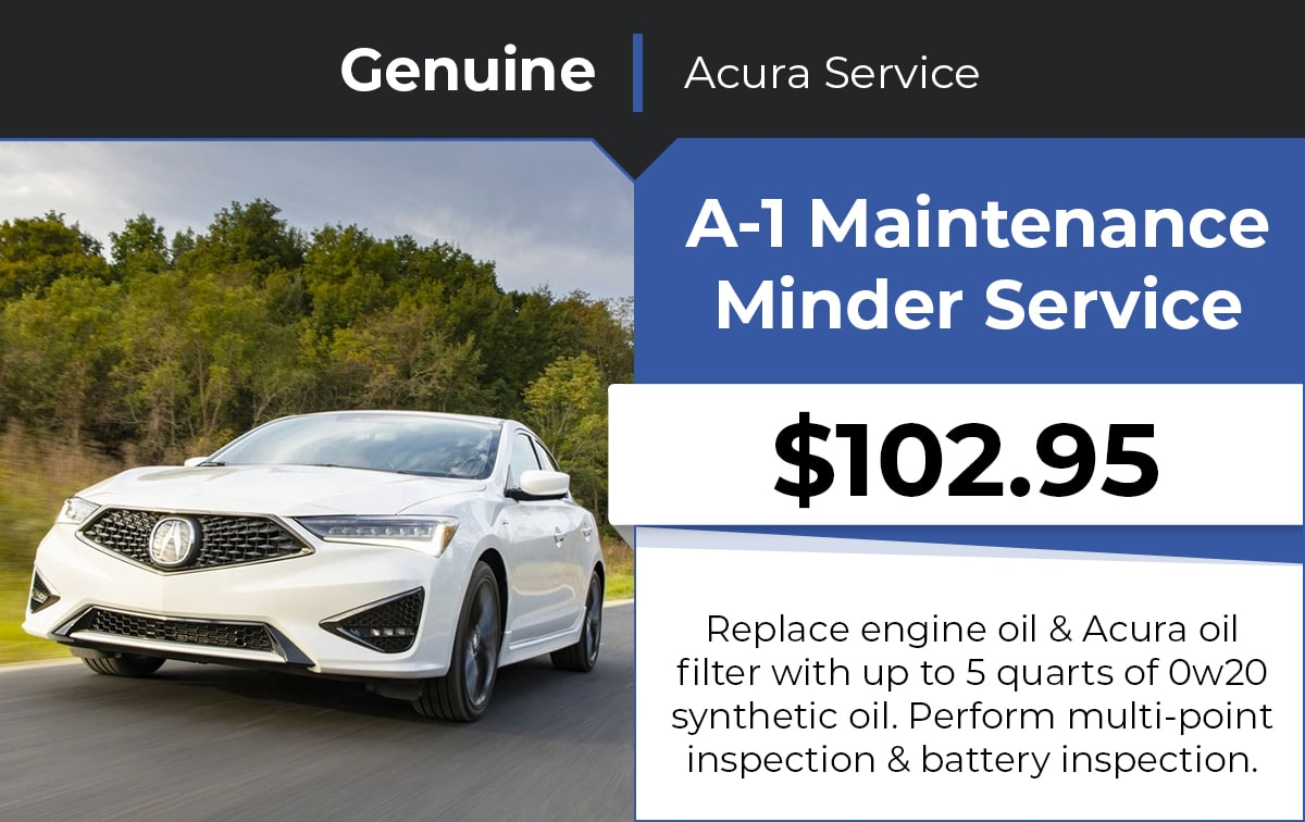 Acura A-1 Maintenance Minder Service Special Coupon