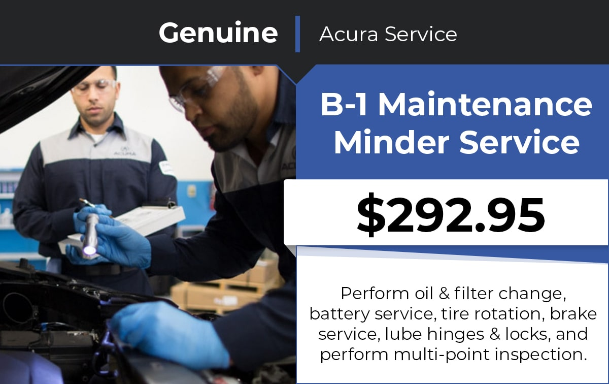 Acura B-1 Maintenance Minder Service Special Coupon