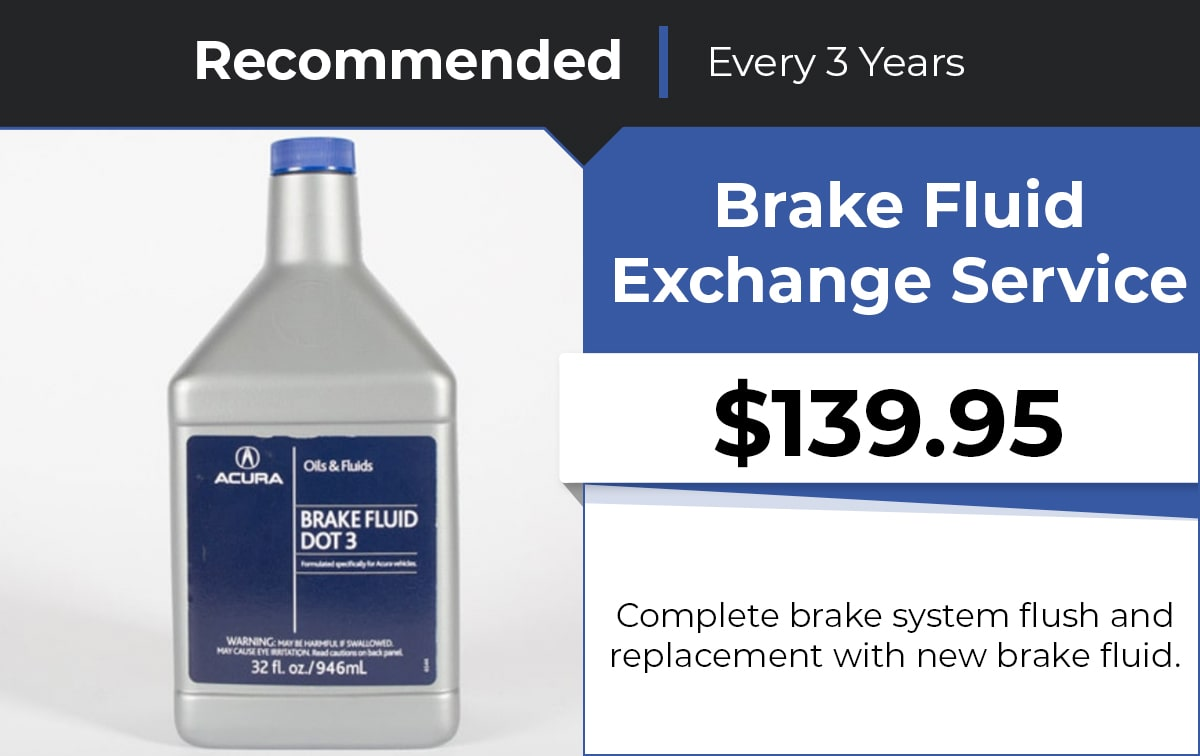 Acura Brake Fluid Exchange Service Special Coupon