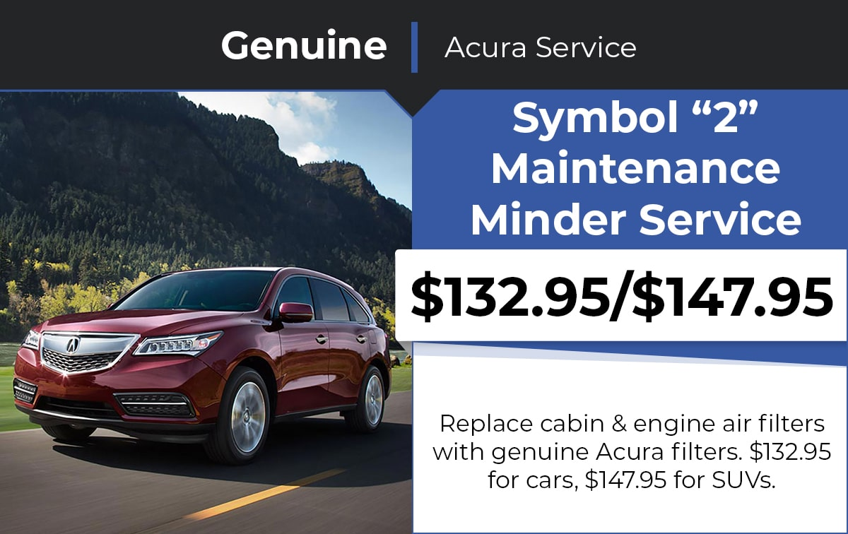 Acura Symbol 2 Maintenance Minder Service Special Coupon