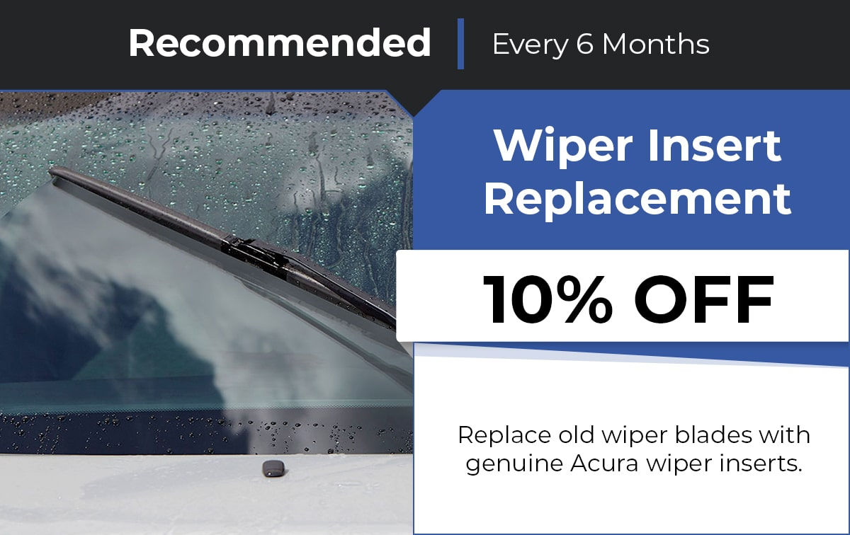 Acura Wiper Insert Replacement Service Special Coupon