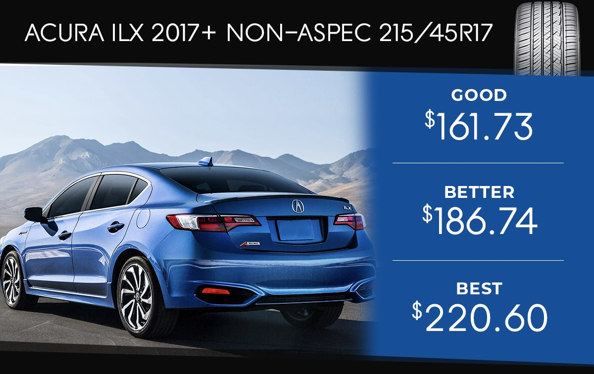 Acura ILX 2017+ Tire Special