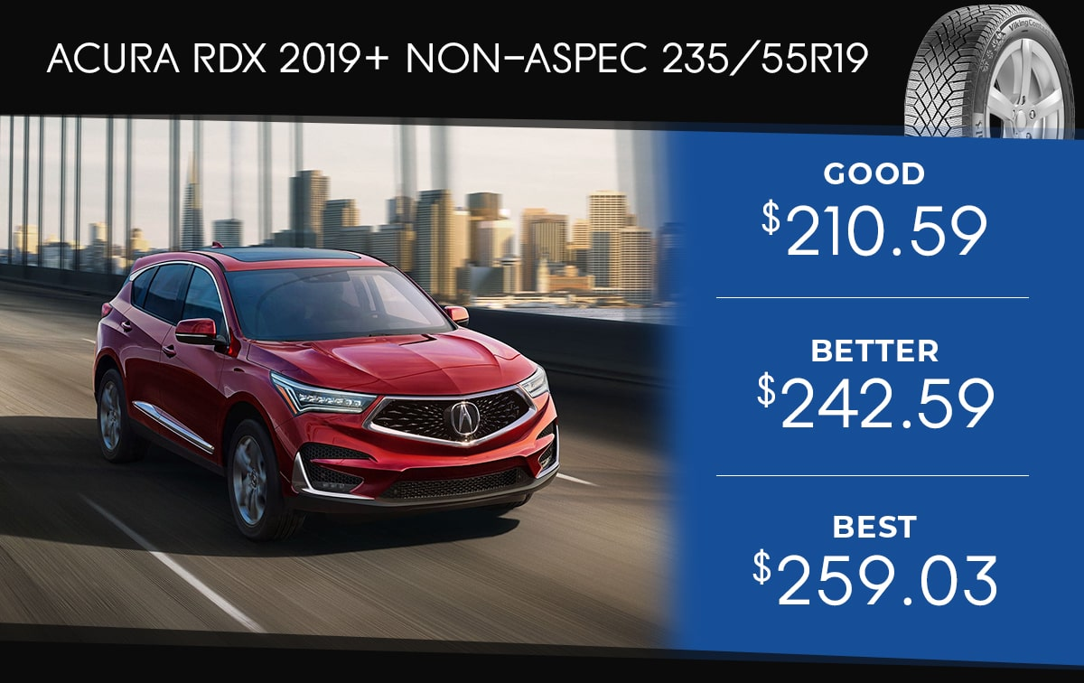 Acura RDX 2019+ Tire Special