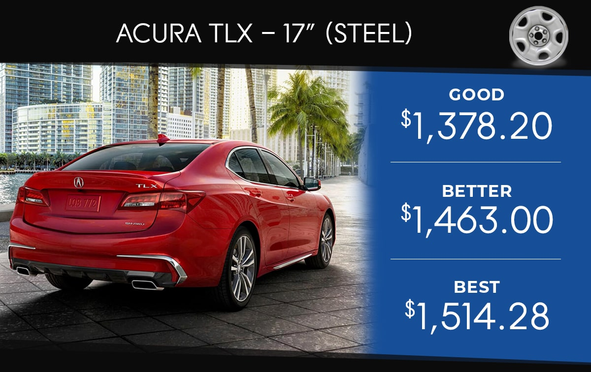 Acura TLX 17 Black or Silver Tire Special