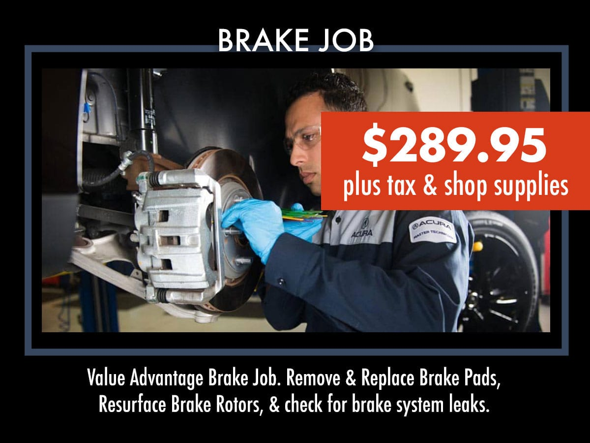Acura Brake Job Service Coupon