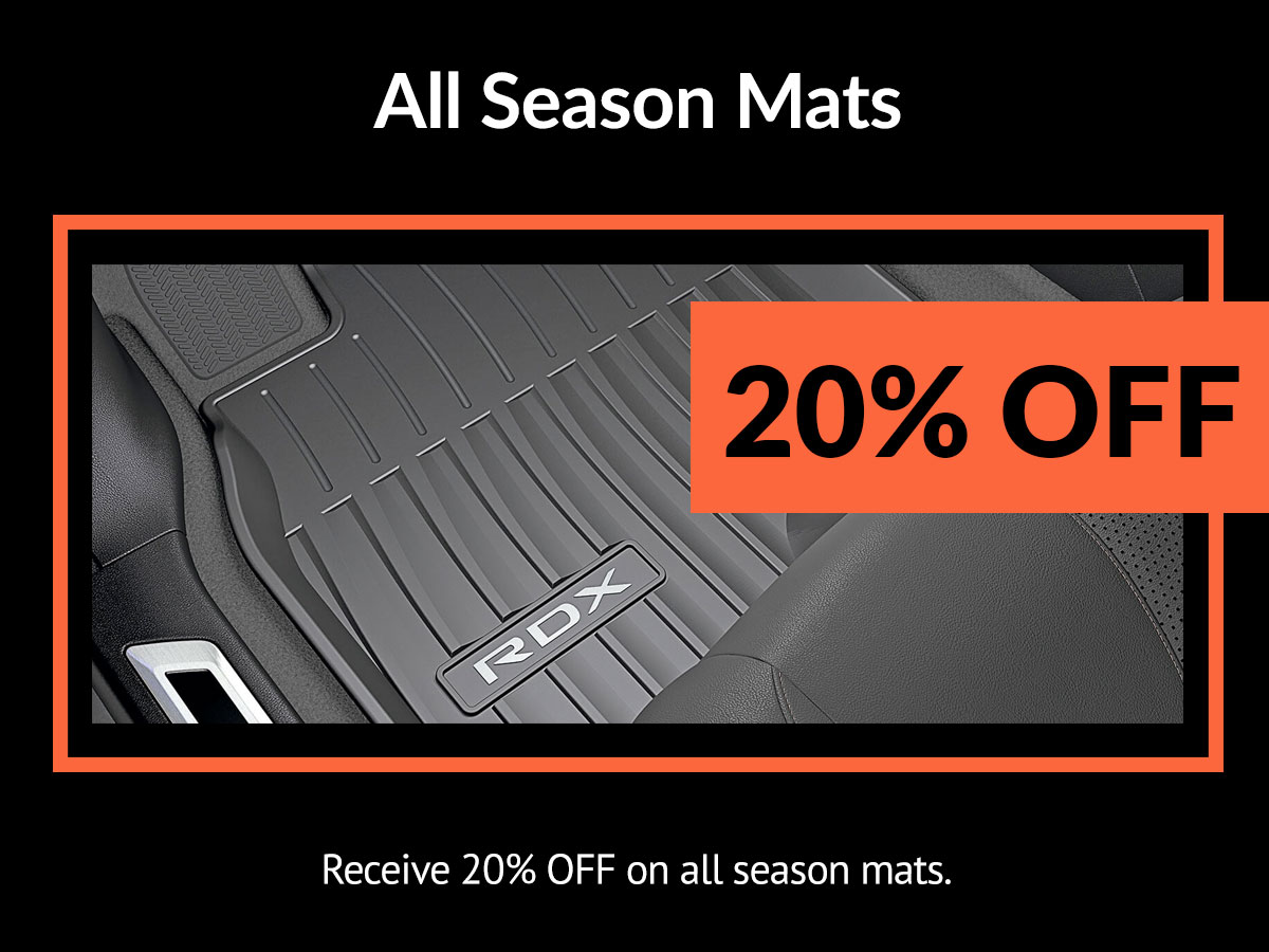 Acura All Season Mats Service Special Coupon