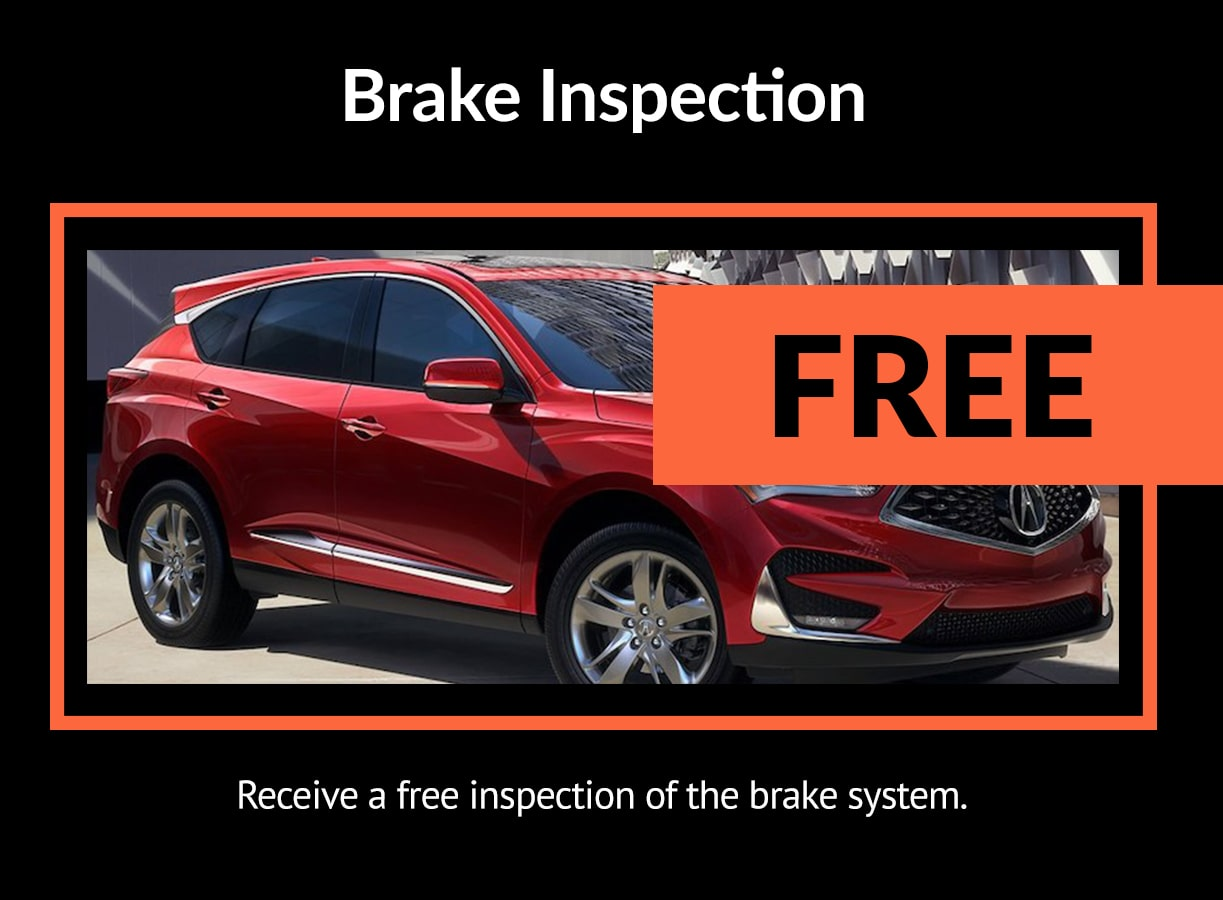 Acura Brake Inspection Service Special Coupon
