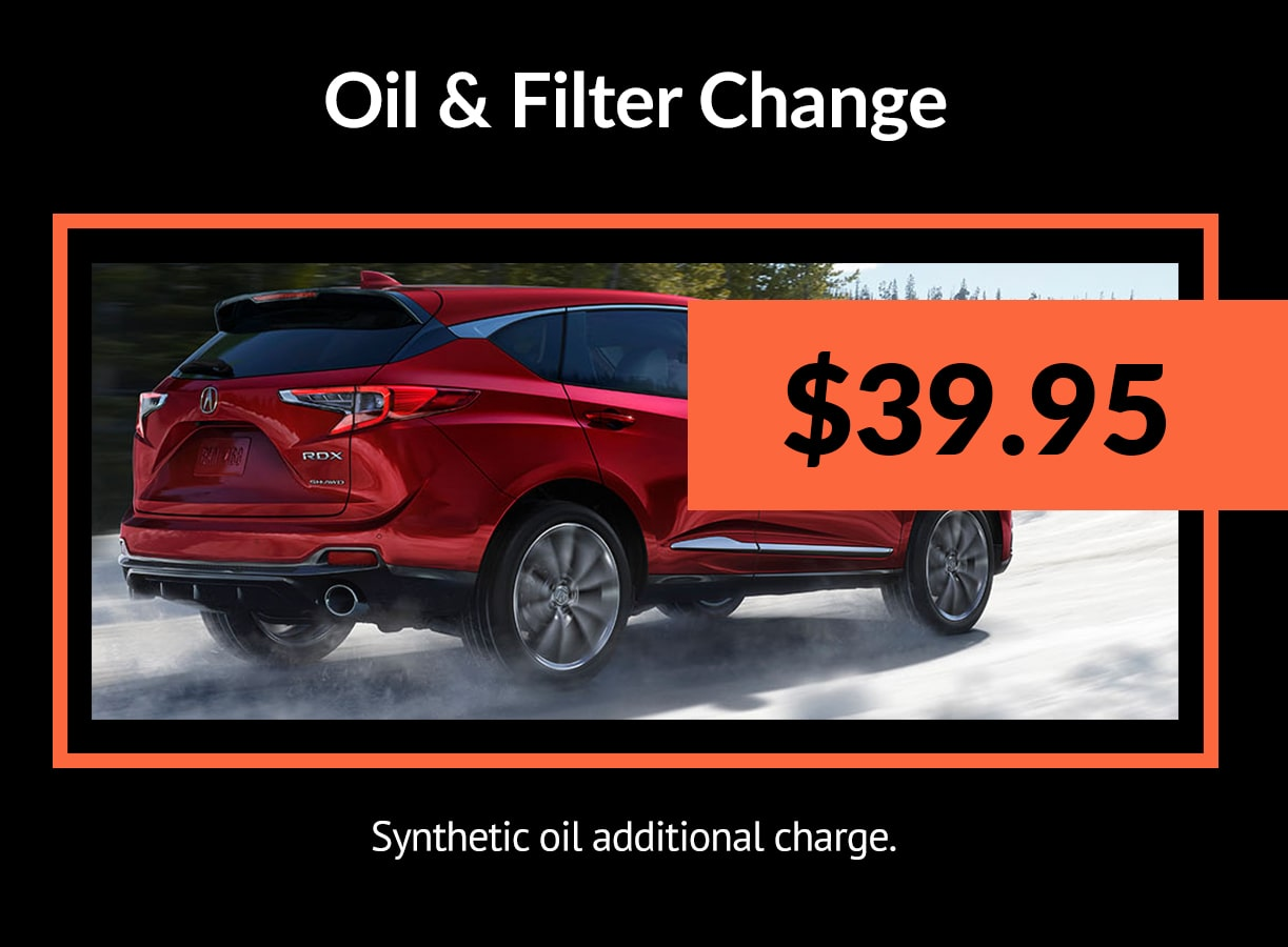 Acura Oil & Filter Service Special Coupon