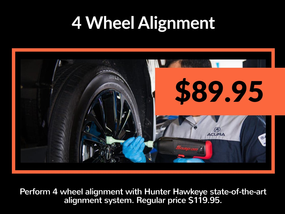 Acura 4 Wheel Alignment Service Special Coupon