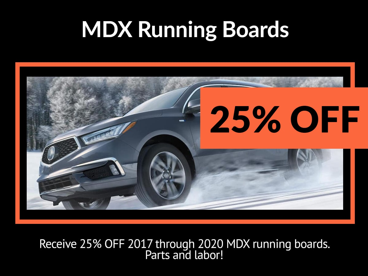 Acura MDX Running Boards Service Special Coupon