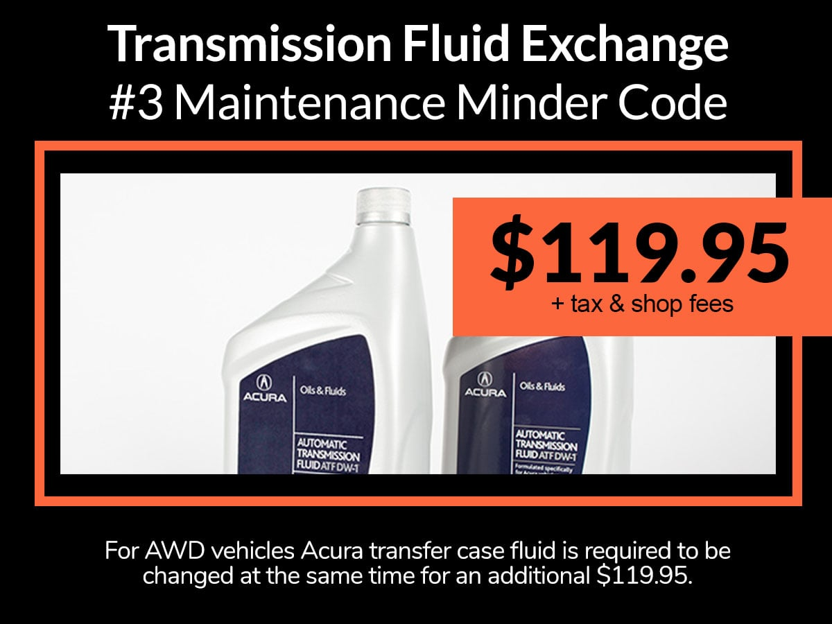 Acura Transmission Fluid Service Special Coupon