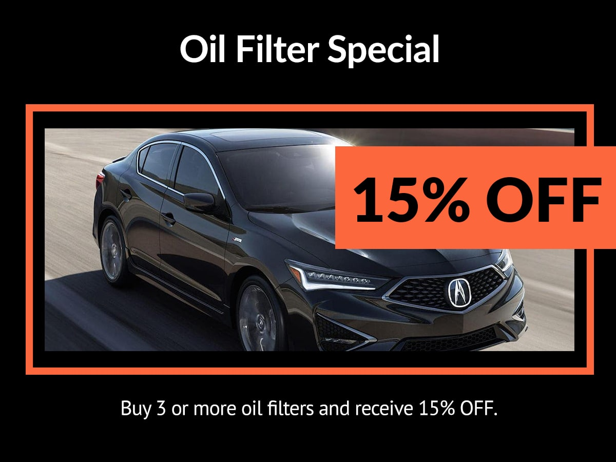 Acura Oil Filter Service Special Coupon
