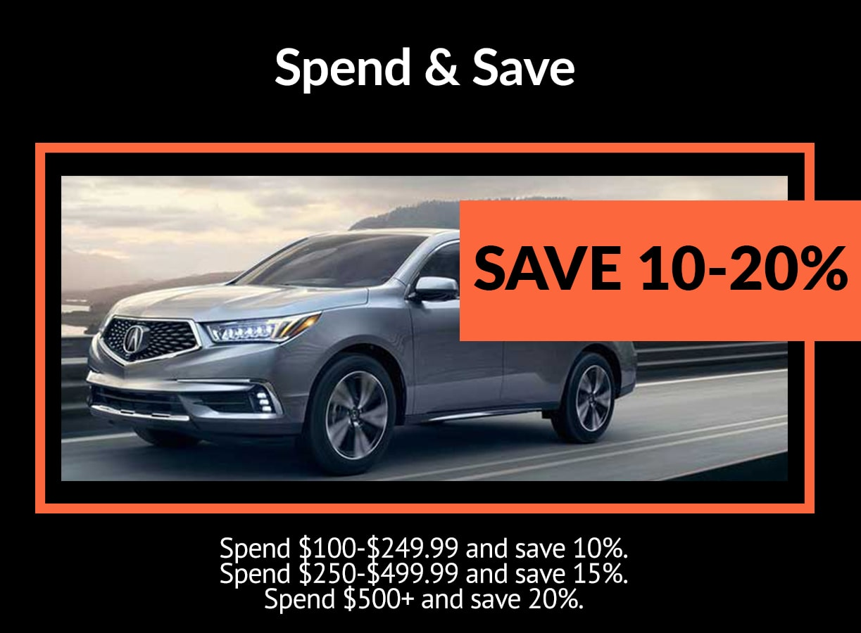 Acura Spend and Save Service Special Coupon