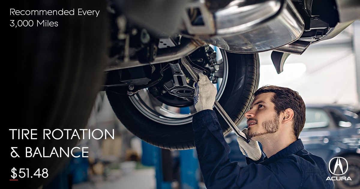 Acura Tire Rotation & Balance Service Special Coupon