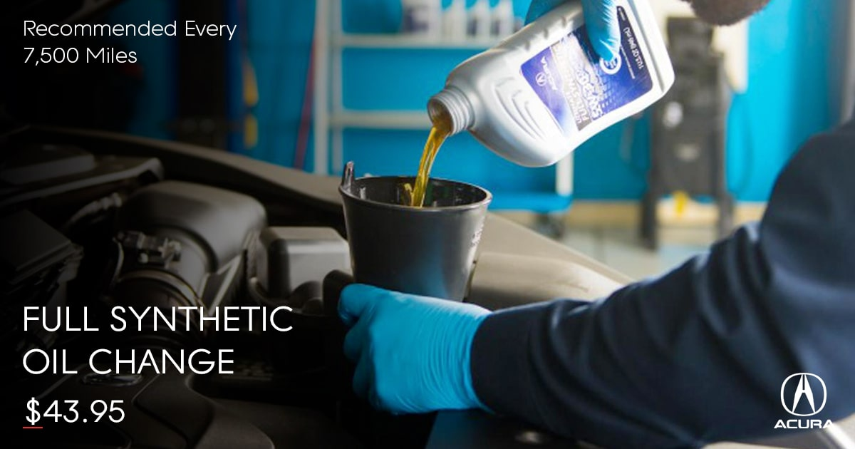Acura Full Synthetic Oil Change Service Special Coupon