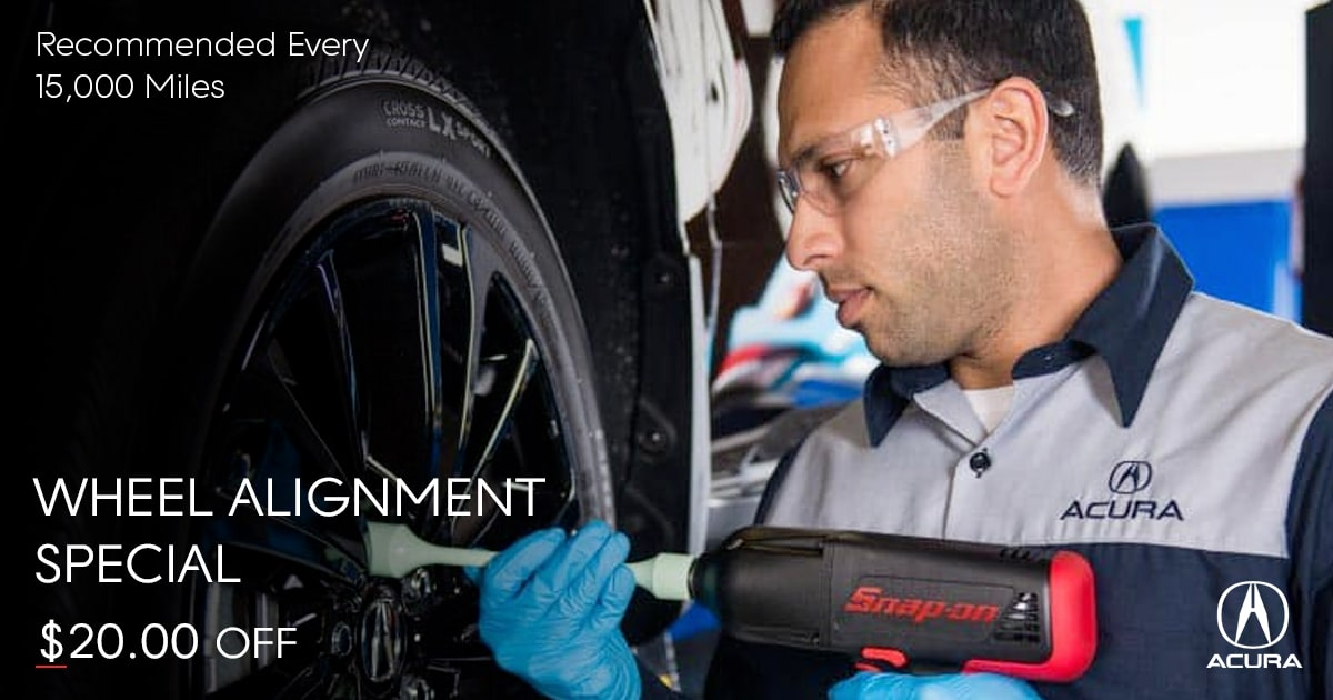 Acura Wheel Alignment Service Special Coupon