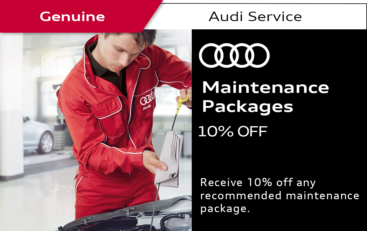 Audi MaintenancePackages Service Special Coupon