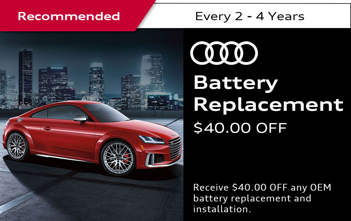Audi Battery Replacement Service Special Coupon