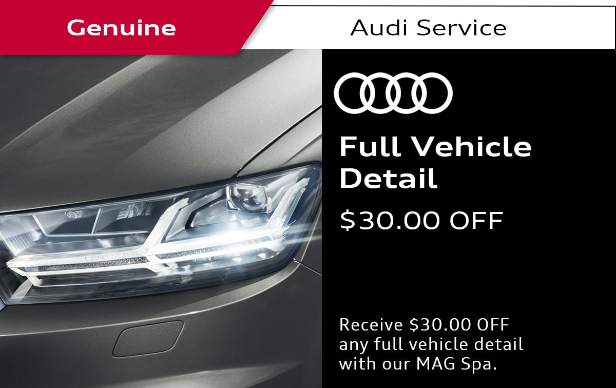 Audi Full Vehicle Detail Service Special Coupon