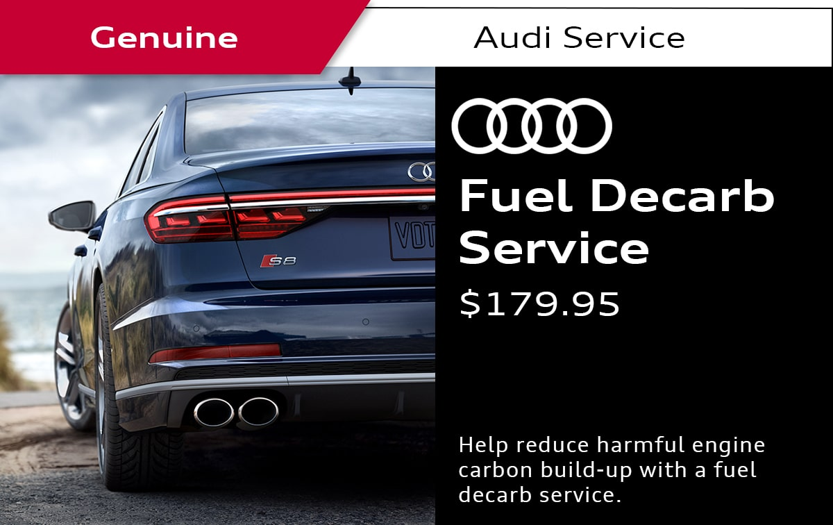 Audi Fuel Decarb Service Service Special Coupon
