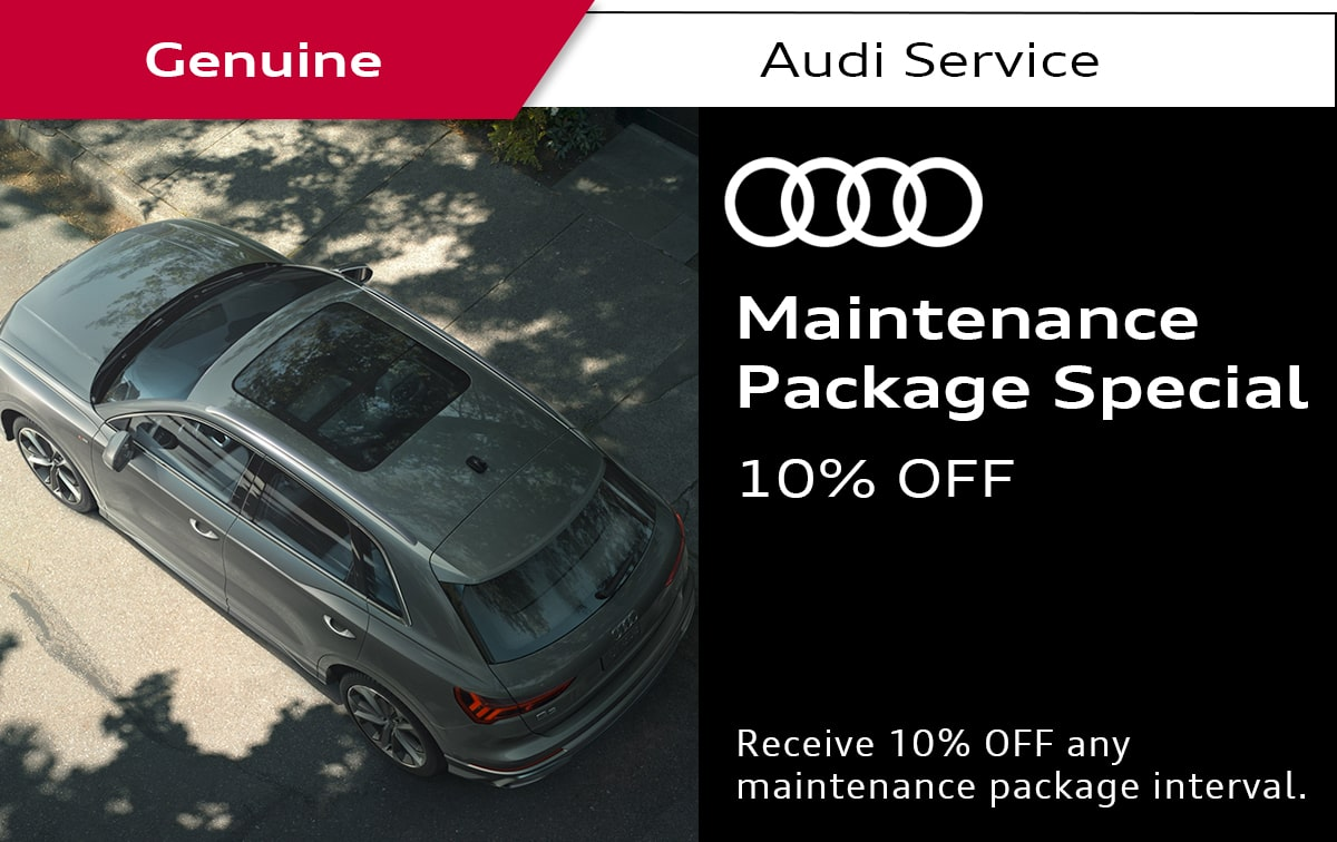 Audi Maintenance Package Service Special Coupon