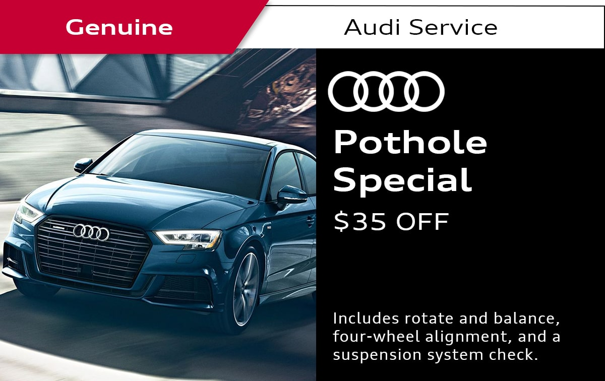 Audi Pothole Service Special Coupon