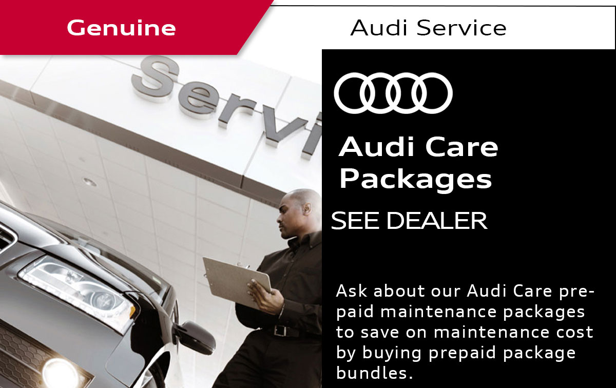 Audi Care Packages Service Special Coupon