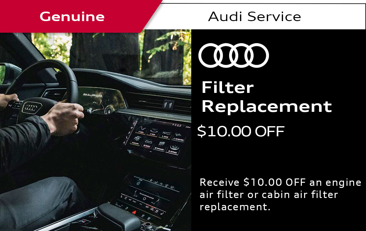 Audi Filter Replacement Service Special Coupon