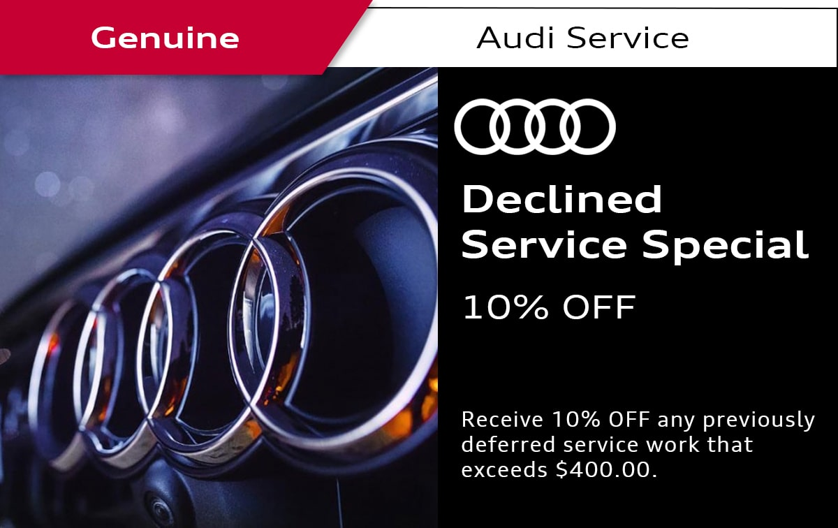 Audi Declined Service Special Coupon