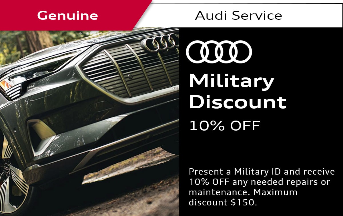 Audi Military Discount Service Special Coupon