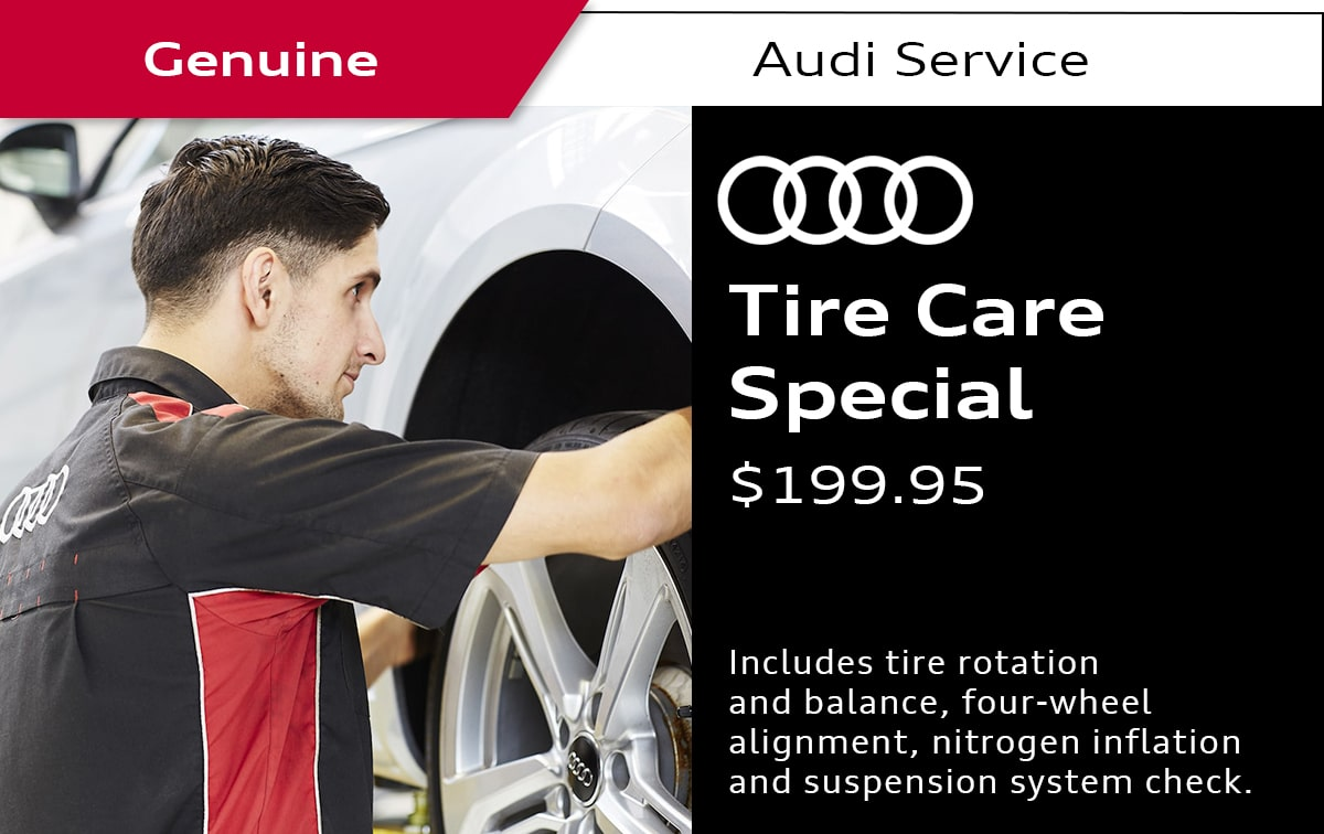 Audi Tire Care Service Special Coupon