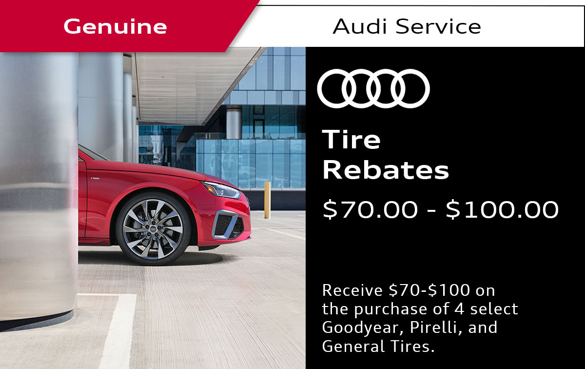 Audi Tire Rebate Service Special Coupon