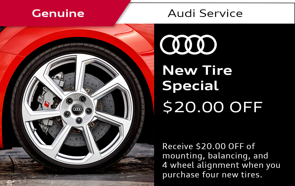 Audi New Tire Service Special Coupon
