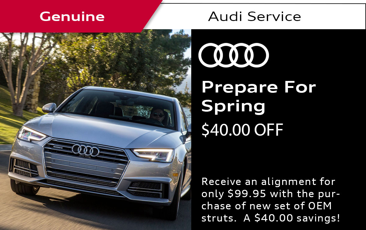 Audi Prepare For Spring Service Special Coupon