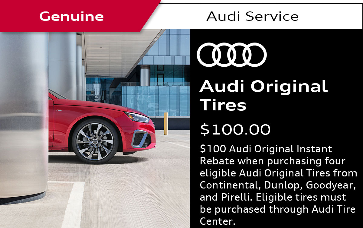 Audi Tire Rebates Service Special Coupon