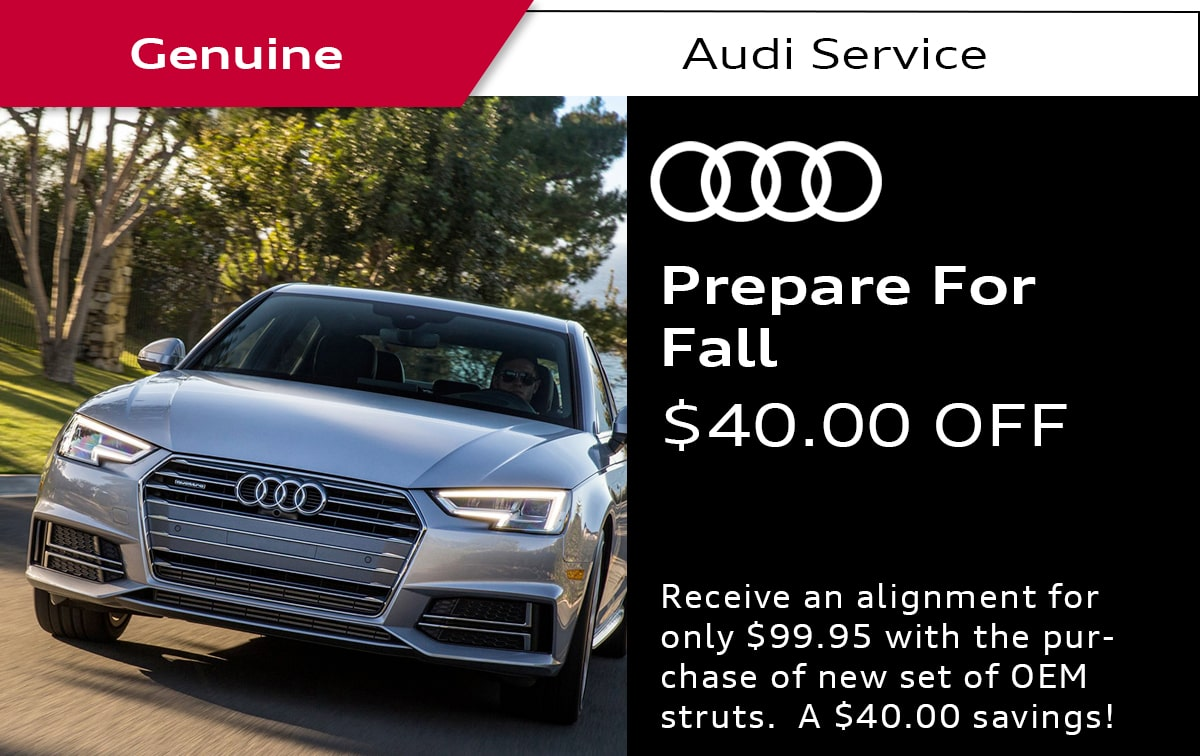 Audi Prepare For Fall Service Special Coupon