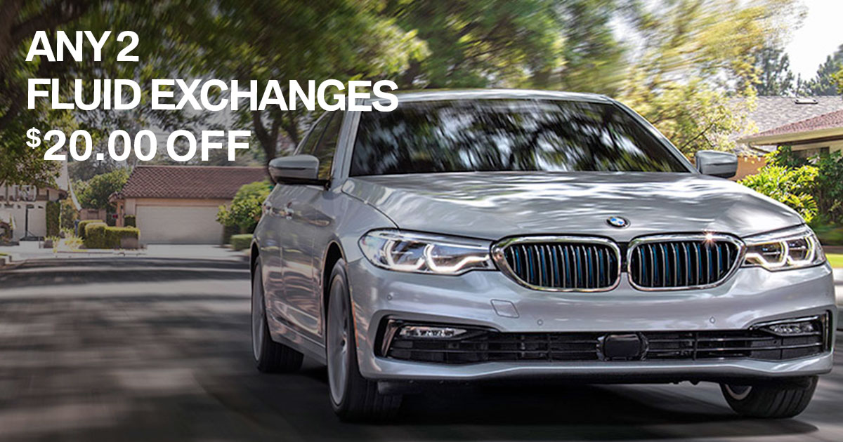 BMW Fluid Exchange Service Special Coupon