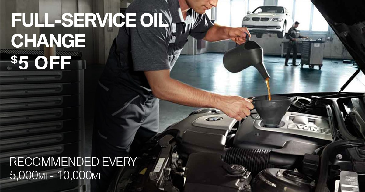 BMW Full-Service Oil Change Service Special Coupon