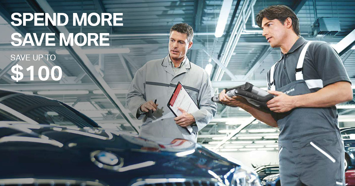 BMW Spend More Save More Service Special Coupon