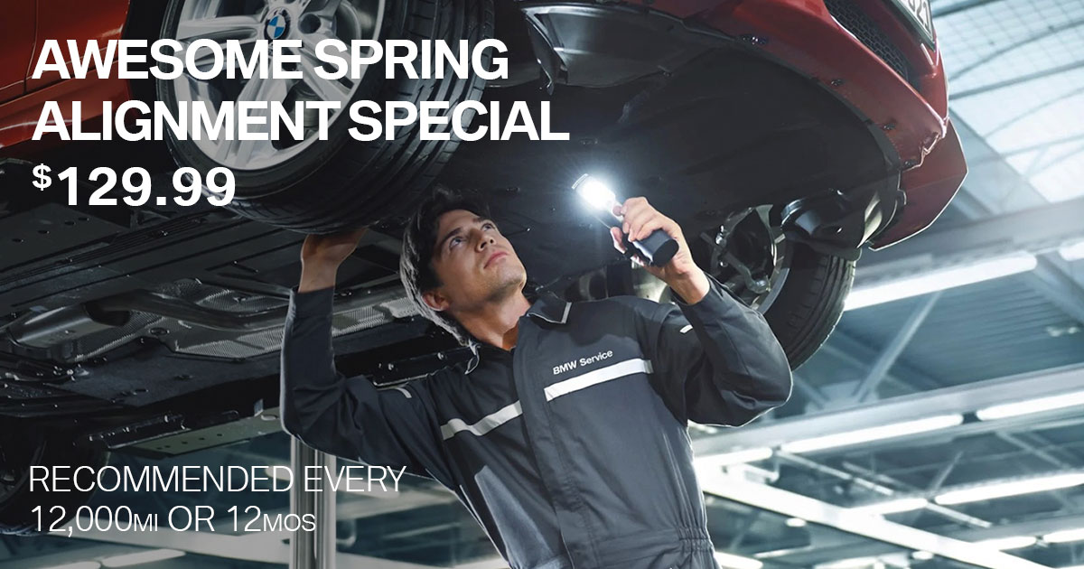 BMW Awesome Spring Alignment Service Special Coupon