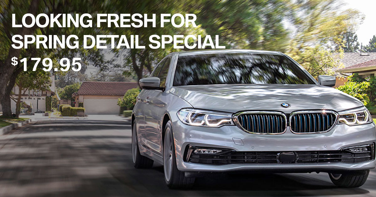 BMW Spring Detail Service Special Coupon