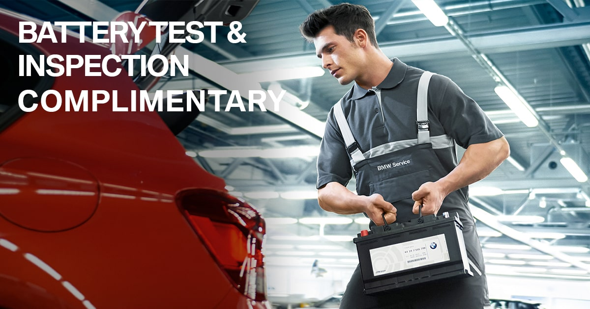 BMW Battery Test Service Special Coupon