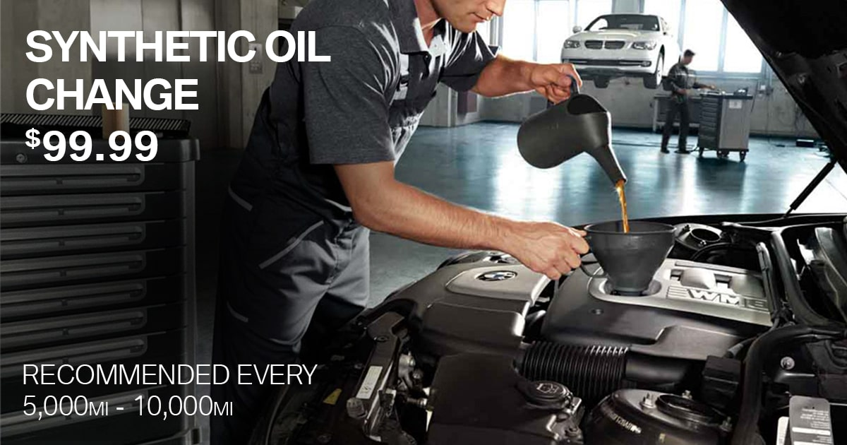 BMW Synthetic Oil Change Service Special Coupon