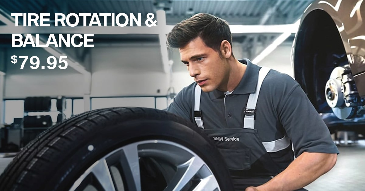 BMW Tire Rotation & Balance Service Special Coupon