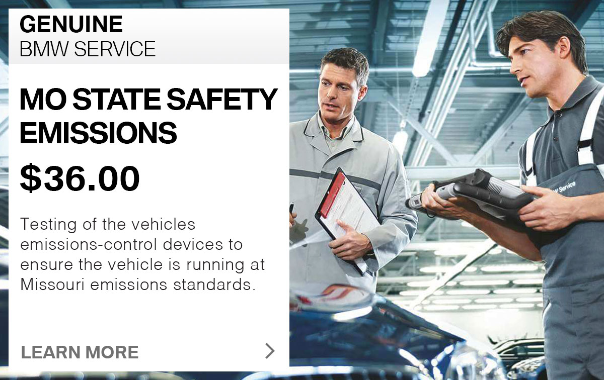 BMW Check MO State & Safety Emissions Service Special Coupon West St. Louis, MO