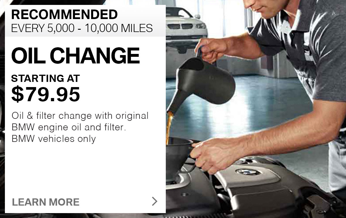BMW Oil Change Service Special Coupon St. Louis, MO