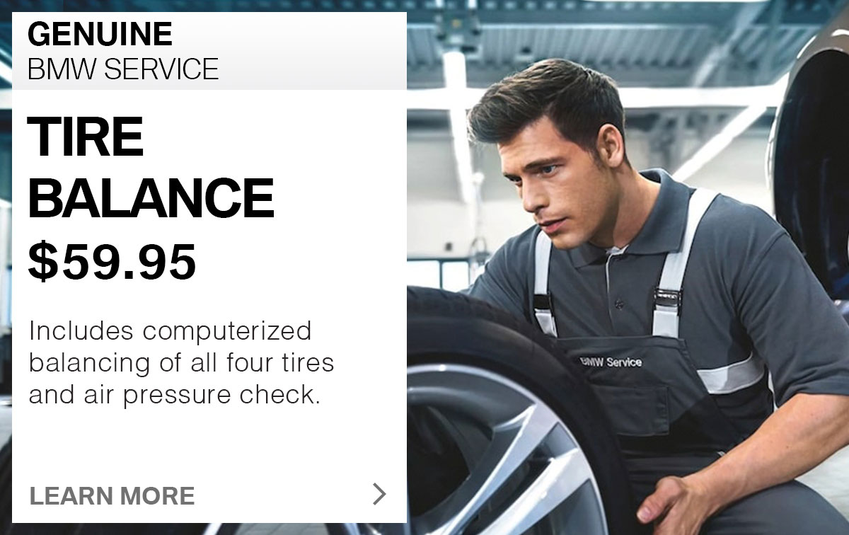 BMW Tire Balance Service Special Coupon St. Louis, MO