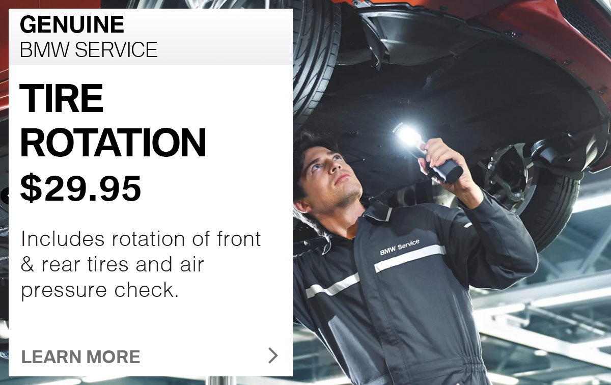 BMW Tire Rotation Service Special Coupon St. Louis, MO