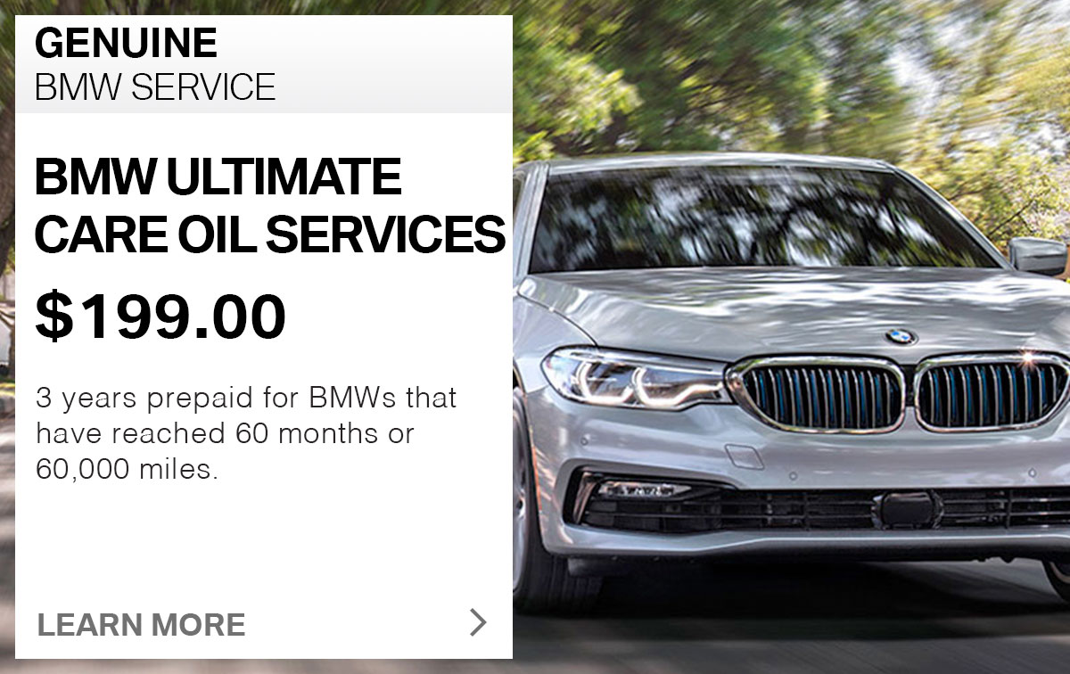 BMW Ultimate Care Oil Services Service Special Coupon St. Louis, MO