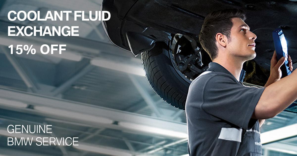 BMW Coolant Fluid Exchange Service Special Coupon